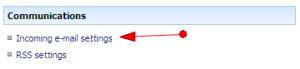 Select Incoming e-mail settings